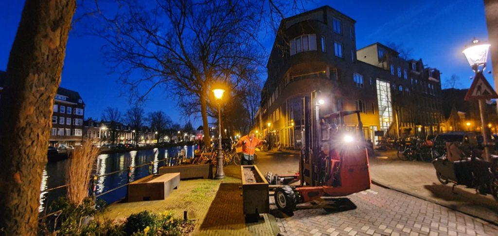 aanleg postzegelpark Schinkelkade